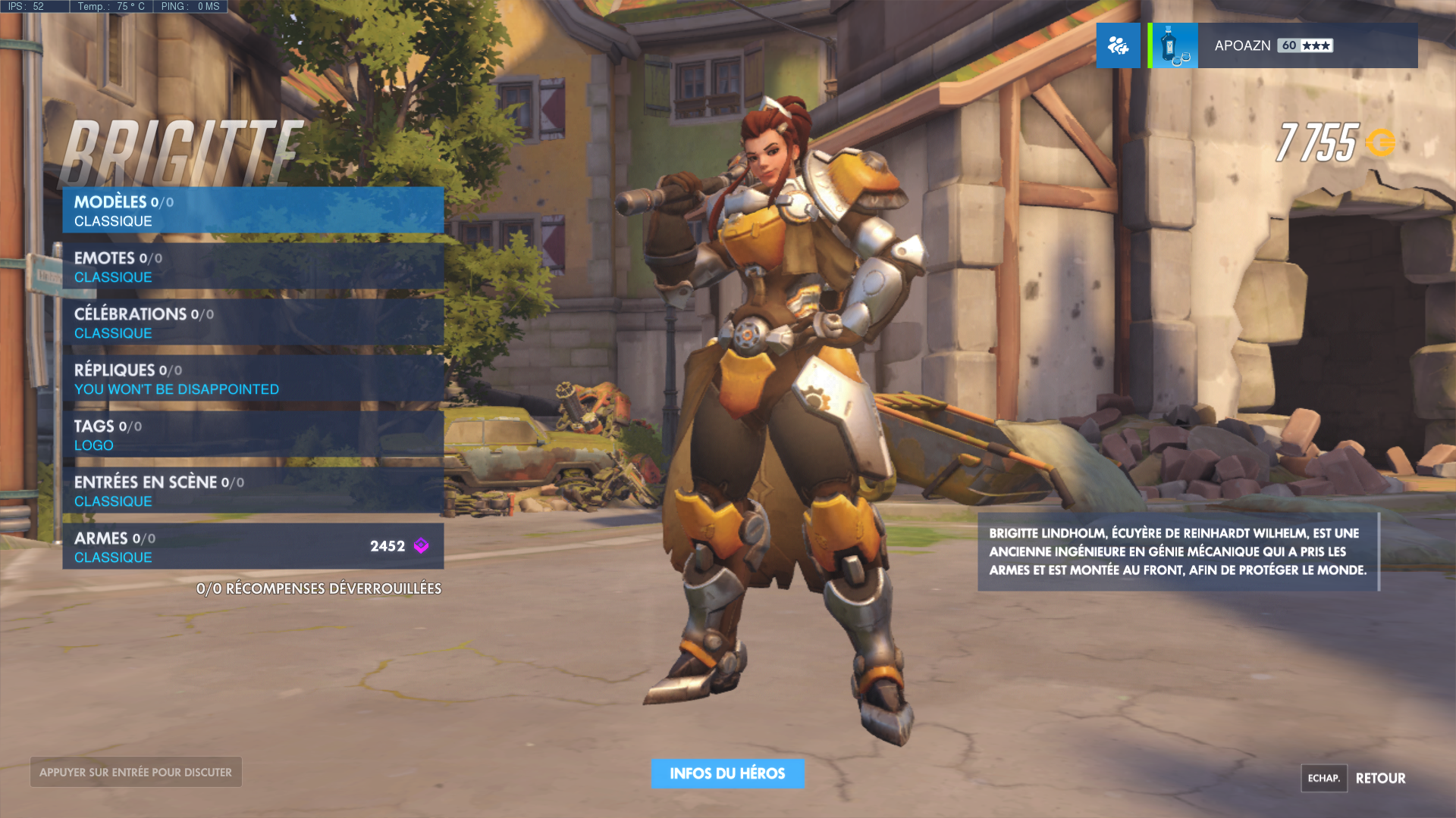 Brigitte Lindholm Select Screen